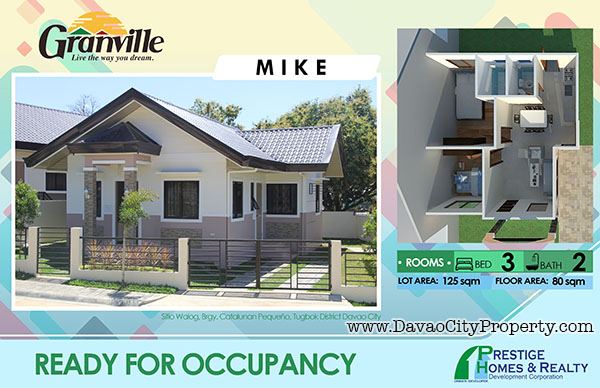 Granville 1 Ready to Occupy Catalunan Pequeno House and Lot Davao City House MIKE Model
