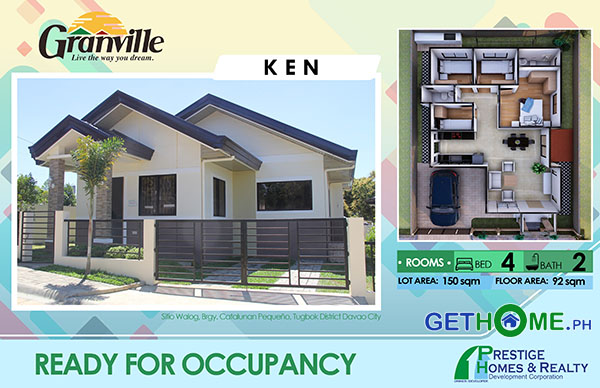 Granville 1 Ready to Occupy Catalunan Pequeno House and Lot Davao City GetHomePh House KEN BLK 4 LOT 10 copy