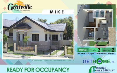 Ready For Occupancy House at GRANVILLE 1 Catalunan Pequeno Davao
