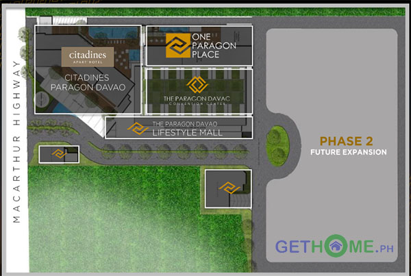 Site Development Plan The Paragon Davao Matina Condo One Paragon Cetadines