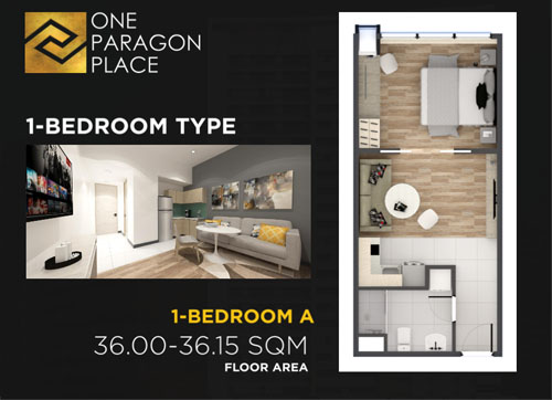 the paragon place matina davao condo 1 bedroom floor plan