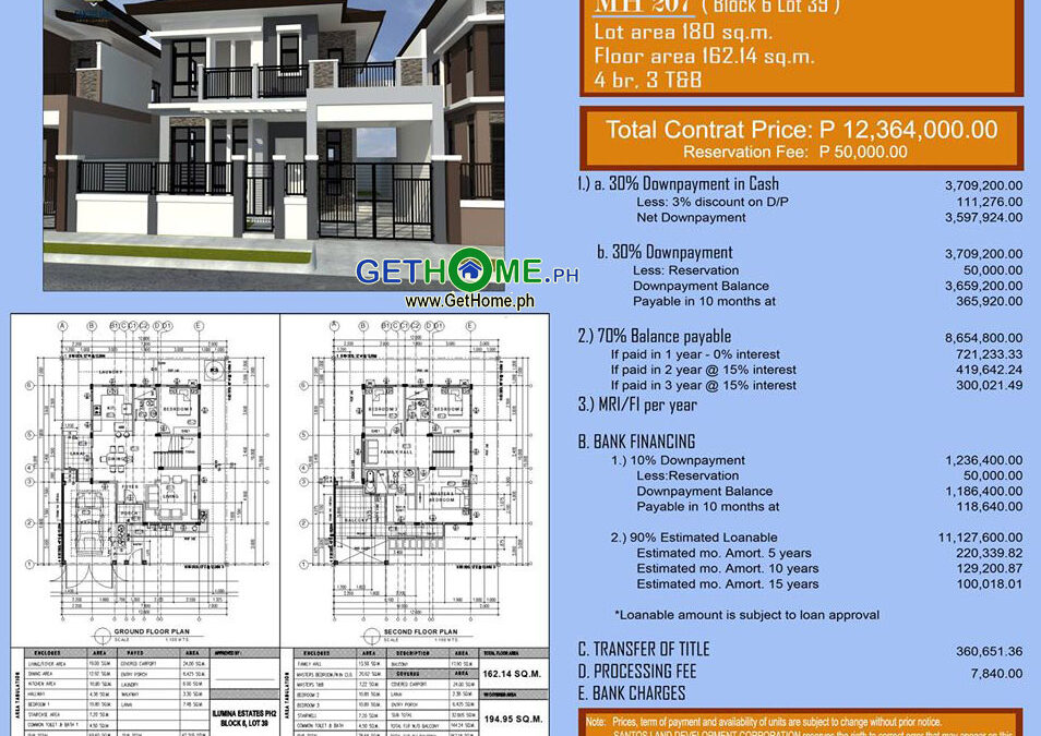 2 Storey 4 Bedrooms House & Lot For Sale at Ilumina Estates Davao